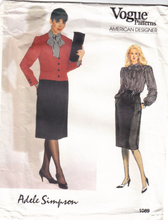 Vogue 1089 Power Suit Sewing Pattern