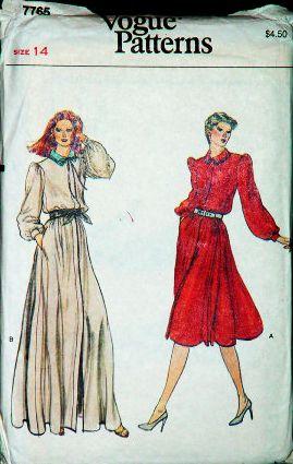 Vogue 7765 Misses Blouson Dress Sewing Pattern