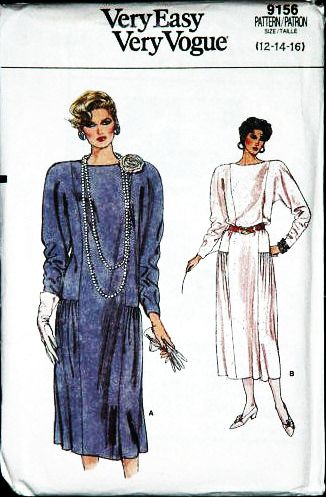 Vogue 9156 Misses Loose Fitting Dress Sewing Pattern