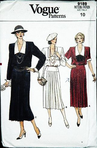 Vogue 9180 Misses 20s Style Dress Sewing Pattern