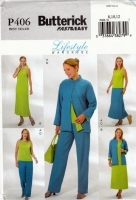 Butterick P406 Jacket, Top, Dress Skirt & Pants Sewing Pattern 8-12 B31-34 Uncut