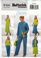 Butterick P406 Jacket, Top, Dress Skirt & Pants Sewing Pattern 14-18 B36-40 Uncut