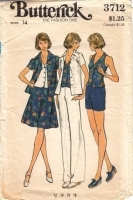Butterick 3712 Top, Shirt, Skirt, Pants & Shorts Pattern 70s 14