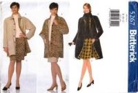 Butterick 5267 Reverisble Coat & Skirt Sewing Pattern 8-12 B31-36Uncut