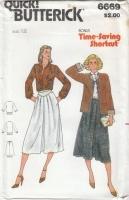 Butterick 6669 Jacket, Blouse, Flared Skirt Sewing Pattern 12 B34 Uncut