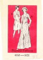 Anne Adams 4550 Vintage 70s Maxi or Knee-Length Dress Sewing Pattern 70s 14 B36