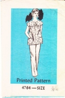 Anne Adams 4764 Vintage 70s Smock Top & Pants Sewing Pattern 70s 48 B52