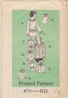 Anne Adams 4771 Ruffled Blouse Pattern 8 Styles 70s 10 B32