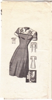 Anne Adams 4937 40s Short Sleeve Dress Sewing Pattern 16 B34