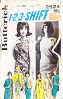 Butterick 2624 60s Easy Dress, Overblouse, Skirt, Coat, Jacket, Vest Sewing Pattern 12 B32