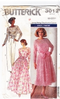 Butterick 3012 Strappy Sheer  Two-Piece Dress Pattern 20-24 New