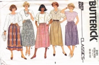 Butterick 3131 Gathered Waist, Dirndl Skirt Sewing Pattern 8-12 W24-26
