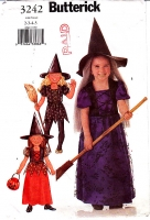 Butterick 3242 Princess Witch Halloween Costume Pattern 2-3