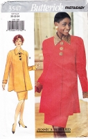 Butterick 3547 90s Swing Top with Pencil Skirt Pattern Jessica Howard 20-24 Uncut
