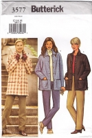 Butterick 3577 Loose-fitting Jacket Pull-on Pants Pattern 12-14