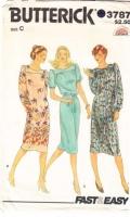 Butterick 3787 70s Pullover Dress Sewing Pattern 16-20 B38-42 Uncut