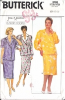 Butterick 3793 80s Pullover Dress with Straight Skirt Sewing Pattern 14-18 B36-40 Uncut