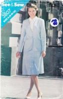 Butterick 3807 Career Suit Jacket & Skirt Sewing Pattern 8-12 B31.5-34 Uncut