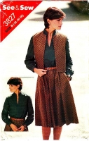 Butterick 3827 Vest, Standup Collar Dress Sewing Pattern 14-18 B36-40  Uncut