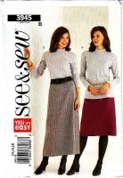 Butterick 3945 Misses Blouse Button Front Shirt Sewing Pattern 14-18 Uncut