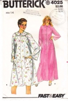Butterick 4025 Misses' Robe Sewing Pattern 14 B36 Uncut