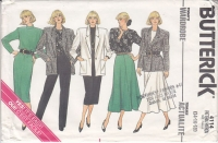 Butterick 4114 80s Boxy Jacket, Skirt, Pants, Top, Dress Sewing Pattern 14-18 B36-40 Uncut