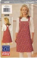 Butterick 4238 Jumper Dress and Shirt Top Sewing Pattern 18-22 B40-44 Uncut