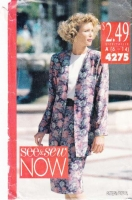 Butterick 4275 Chemise Dress, Boxy Jacket Sewing Pattern 6-14 B30-36 Uncut