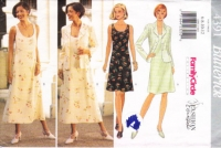 Butterick 4391 Sleeveless Dress,  Jacket Sewing Pattern 6-12 B30.5-34 Uncut