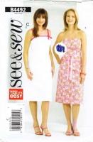 Butterick 4492 Strapless Sundress Dress Sewing Pattern Plus Size 18-22 B40-44 Uncut