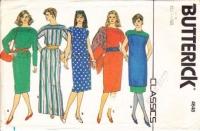 Butterick 4648 80s Dress, Tunic Top, Skirt Sewing Pattern 12-16 B34-38 Uncut