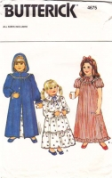 Butterick 4675 Childs Robe and Nightgown Sewing Pattern 2-6