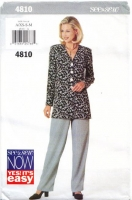 Butterick 4810 Top & Pants Sewing Pattern XS-M B30-36 Uncut