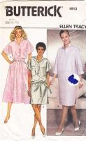 Butterick 4913 80s Ellen Tracy Dress, Top Skirt Sewing Pattern 12-16 B34-38 Uncut
