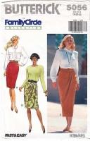 Butterick 5056 Pencil or Mock Wrap Skirt Sewing Pattern 18-22 W32-37 Uncut