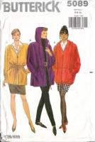 Butterick 5089 Long, Hoodie Jacket Sewing Pattern 6-10 B30-32 Uncut