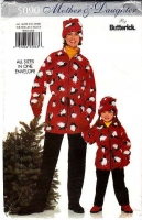 Butterick 5090 Mother Daughter Coat, Pants, Hat Sewing Pattern XS-L B30-40 Girls 2-8 Uncut