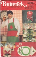 Butterick 5092 Christmas Xmas Napkins Placemat  Sewing Pattern Uncut