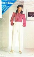 Butterick 5132 Pussycat Bow Blouse & Pleated Pants Sewing Pattern 8-12 B31-34 Uncut