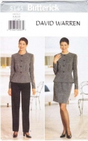 Butterick 5145 Nipped Waist Jacket, Pencil Skirt, Slim Pants Sewing Pattern 6-10 B30-34 Uncut