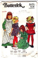 Butterick 5171 Girls Pinafore Dress Ruffled  Sewing Pattern 6x