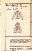 Butterick 5188 80s Blouse & Split Skirt, Culottes Sewing Pattern 14-18 B36-40 Uncut