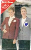 Butterick 5218 Hip-Length Blazer Jacket Sewing Pattern 12-16 B34-38 Uncut