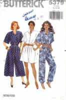 Butterick 5379 Jumpsuit Sewing Pattern 12-16 B34-38 Uncut