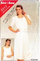 Butterick 5512 Sleeveless Blouson Dress & Jacket Sewing Pattern 12-16 B34-38 Uncut
