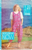 Butterick 5546 90s Jumpsuit, Top, Shirt Sewing Pattern 16-22 B38-44 Uncut