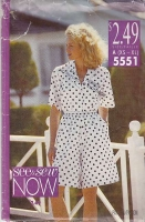 Butterick 5551 Camp Shirt and Bermuda Shorts Sewing Pattern S-L B30-40 Used