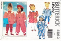 Butterick 5662 Toddler Dress, Top, Jumpsuit & Leggings Sewing Pattern 1-3 Uncut