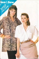 Butterick 5707 80s Drop Shoulder Blouse Sewing Pattern 6-14 B30-36 Uncut