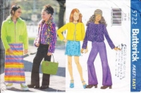 Butterick 5722 Girls' Jacket, Top, Skirt, Pants Sewing Pattern 7-10 Uncut